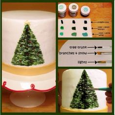 Have you tried using Wilton icing colors to paint your design on a cake? Learn how to create this easy design - perfect for the holidays!