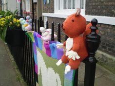 Yarn bombing near where I live James Herriots house