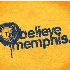 "The Official ""Believe Memphis"" Grizzlies Playoff Gold Growl Towel"