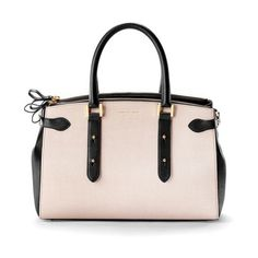 Aspinal of London Women's Brook Street Tote Bag - Monochrome ($1,050) ❤ liked on Polyvore featuring bags, handbags, tote bags, aspinal of london, pink tote bag, pink tote, pink purse and pink handbags