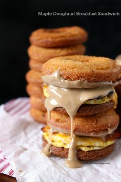 Maple Doughnut Breakfast Sandwich