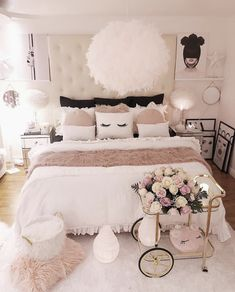 Teen Girl Bedrooms - A really powerful yet breathtaking pool of teen room suggestions. For further amazing info , jump to the pin image this instant Bedroom Decor For Teen Girls, Cute Bedroom Ideas, Girl Bedroom Designs, Room Ideas Bedroom, Teen Girl Bedrooms, Bed Room, Small Bedrooms, Tween Girls, Bedroom Colors