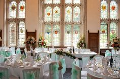 Stunning wedding venue set for your dream country house wedding | Wedding room at our beautiful Nutfield Priory Hotel in Redhill, Surrey