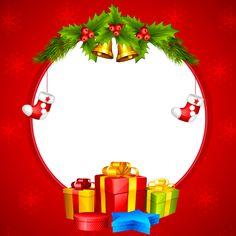 Christmas Transparent Red PNG Border Frame