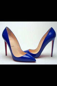 Blue stilettos