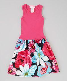 Another great find on #zulily! Alejandra Kearl Designs Raspberry Floral Dress - Infant, Toddler & Girls by Alejandra Kearl Designs #zulilyfinds