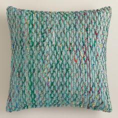 $24.99 Blue Honeycomb Throw Pillow | World Market