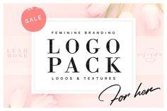 Ad: 120 Feminine Branding Logos by Davide Bassu on Photoshop Logo, Photoshop Illustrator, Logo Branding, Branding Design, Logo Design, Branding Website, Font Logo, Graphic Design, Design Art
