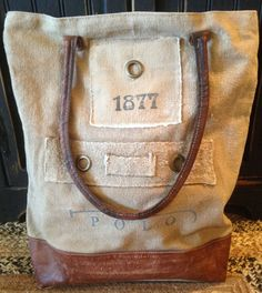 1877 Polo Double Strap Canvas Bag
