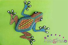 RANA EN PUNTILLISMO                                                                                                                                                                                 Más Dot Art Painting, Mandala Painting, Fabric Painting, Stone Painting, Mandala Dots, Mandala Pattern, Mosaic Projects, Art Projects, Henna Doodle