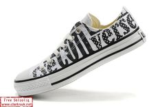 I wantz! Converse Chuck Taylor Low Shoes White Logo Print