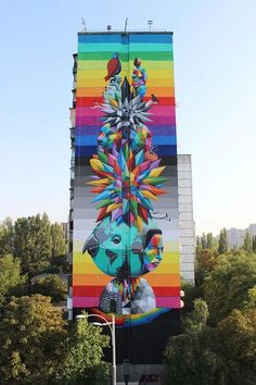 Okuda San Miguel - The World-Love is Ours Kiev, Ukraine