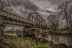 An Old Train Bridge converted into a walking/riding trail near Randolph Iowa