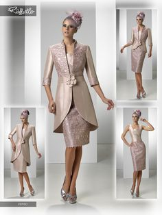 VERSO (Vestido de Fiesta). Diseñador: Raffaello. ... Mother Of The Bride Suits, Mother Of Bride Outfits, Mother Of Groom Dresses, Mothers Dresses, Evening Gowns With Sleeves, Evening Dresses, Simple Dresses, Beautiful Dresses, Special Dresses