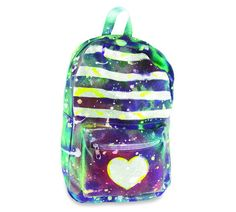 Back-to-school #backpack using tie-dye spray paint and fabric paint. Almost #toocool4school #diy #crafts #school #student