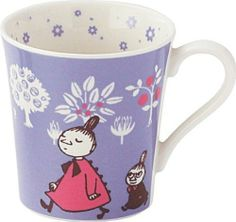 YUMETOBO: Moomin mug (purple) - Purchase now to accumulate reedemable points! Moomin Mugs, Moomin Valley, Tove Jansson, Retro Flowers, Mug Cup, Snoopy, Pottery, Japanese, Purple