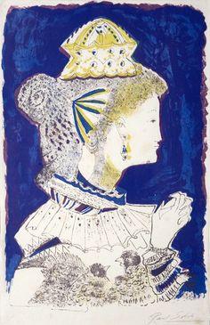 Raúl Soldi | Figura de mujer | s.f. | Serigrafía | 45 x 28 cm
