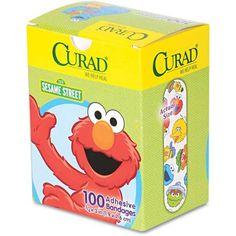 Curad Sesame Street Adhesive Bandages, 100 count