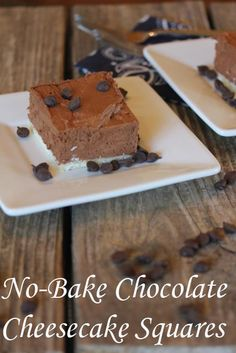 Chocolate Cheesecake Squares from Lynn's Kitchen Adventures via All Gluten-Free Desserts. Easy to make    and a crowd pleaser for sure! :-) @Lynn's Kitchen