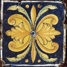 Hand crafted and hand painted Collezione Italiano floor tiles using techniques and designs adopted from 15th century Italian art