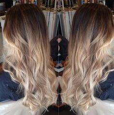 My ombre! Nice warm brown into an ashy blond-- I'm in love.