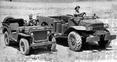 Willys MB and a Dodge WC