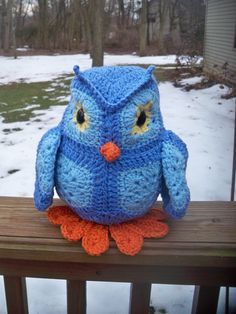 Crochet Owl-Fat Little Owl-bird by CrowesNestStitchery on Etsy