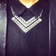 black on black & a statement silver necklace