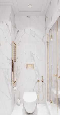 White apartment on Behance Home Room Design, Dream Home Design, Home Interior Design, Interior Livingroom, Interior Ideas, Interior Inspiration, Interior Colors, Interior Modern, Bathroom Design Luxury