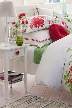 Bed - Wildflower Euros - I like this collection of prints and styling