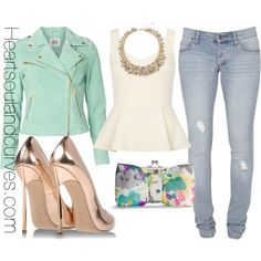 """""""Hello Spring. I missed you!"""" by adoremycurves on Polyvore"""