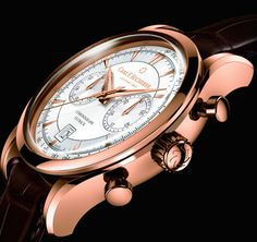 """Carl F. Bucherer Manero Flyback Chronograph Watch - by Zach Pina """"The Carl F. Bucherer Manero collection of watches are amongst the luxury brand's most classic offerings, with fine complications like a moonphase, tourbillon, and perpetual calendar all making their home in the line. For Baselworld 2016, Bucherer has introduced a sporty new Manero column wheel chronograph..."""""""
