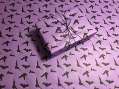Black Bats on Purple Gothic Christmas Wrapping Paper Christmas Music Playlist, Black Bat, Christmas Wrapping, Bats, Gothic, Hair Accessories, Purple, Paper, Unique Jewelry
