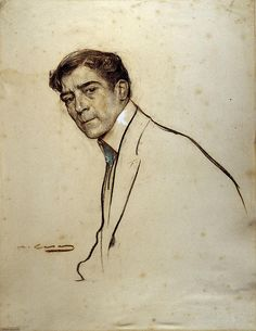 Portrait Of Alexandre De Riquer  Ramon Casas