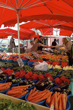 A market in Lyon, France