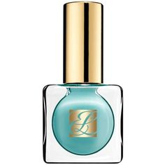 Est233e Lauder Black Turquoise Pure Color Nail Lacquer (£15) ❤ liked on Polyvore featuring beauty products, nail care, nail polish, nail, enchanted garnet, estee lauder nail polish and estée lauder