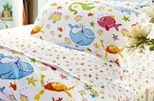 3 Pieces bedding set, colored fish for kids. Cotton Sheets, Colorful Fish, Bed Sheets, 3 Piece, Comforters, Pillow Cases, Bedding, Quilts, Blanket