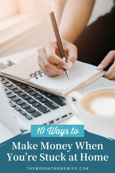 Check out these great ways to make money when you're stuck at home. These won't be your traditional work-at-home job opportunities that require going through a hiring process and training. You probably aren't going to have time for that. You just want something to keep you busy now. | The Work at Home Wife Online Jobs From Home, Work From Home Jobs, Make Money From Home, Way To Make Money, Home Blogs, Hiring Process, Find Work, Time Management Tips, How To Start A Blog