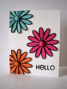 *i can use my new flower stamps and dies!* Tilth Flower