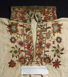 c style embroidery. Style of shirt used in East Telemark, Norway between 1800 and 1860