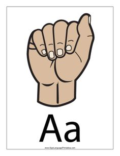 Free Sign Language Printables in PDF format Asl Letters, Sign Language Letters, Simple Sign Language, Sign Language Chart, Alphabet Signs, British Sign Language, Abc Alphabet, Alphabet Crafts, Speech Activities