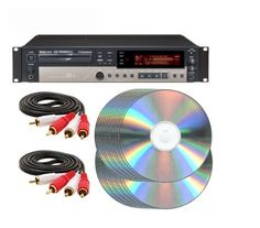 Tascam CD-RW900SL CD-R CD Recorder Recording Package with (2) RCA cables and (50) CD-R by Tascam. $309.00