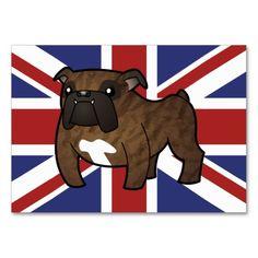 Patriotic Bulldog (brinldle) Business Card Templates