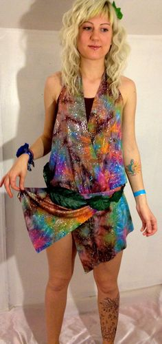 90s Sparkly Galaxy Cosmos Dancer // Hooper by thatVideoVAMPvintage, $44.00