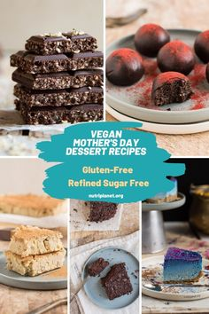 Delicious sweet and savoury vegan Mother's Day recipes for brunch, lunch and dinner. Healthy gluten-free and oil-free recipes that your mother will love. #veganmothersday #veganmothersdayrecipes #veganmothersdaybrunch #veganmothersdaydessert #nutriplanet