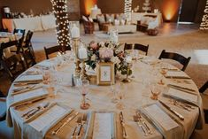 Elegant circle tablescape from this desert wedding | Image by Logan Cole