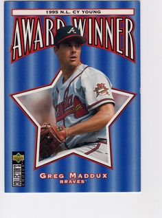 Greg Maddux 1996 Upper Deck Collector's Choice by pdxtradingcards Cy Young Award, Greg Maddux, Upper Deck, Award Winner, The Collector, Baseball Cards, Etsy