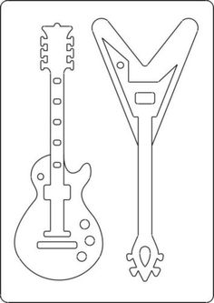 Guitar template to use for prayer times - Children should draw or write on the back of these how they think Jesus Rocks!
