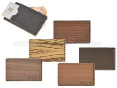 BeWooden - Leder Holz Kartenetui Kartenbörse Kreditkartenetui