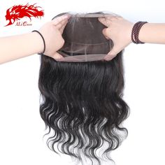94.18$  Buy here - http://aliub1.worldwells.pw/go.php?t=32731443322 - Ali Queen 7A 360 Frontal Body Wave Human Hair Lace Band  Adjustment Brazilian Virgin Hair Natural Hairline With Baby Hair